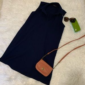 Navy Blue Dress with Pocketd